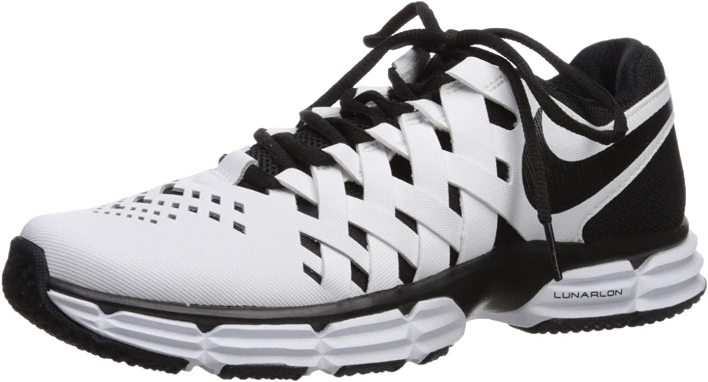 Nike Men s Lunar Fingertrap Trainer Sneaker, White Black, 7 Regular US