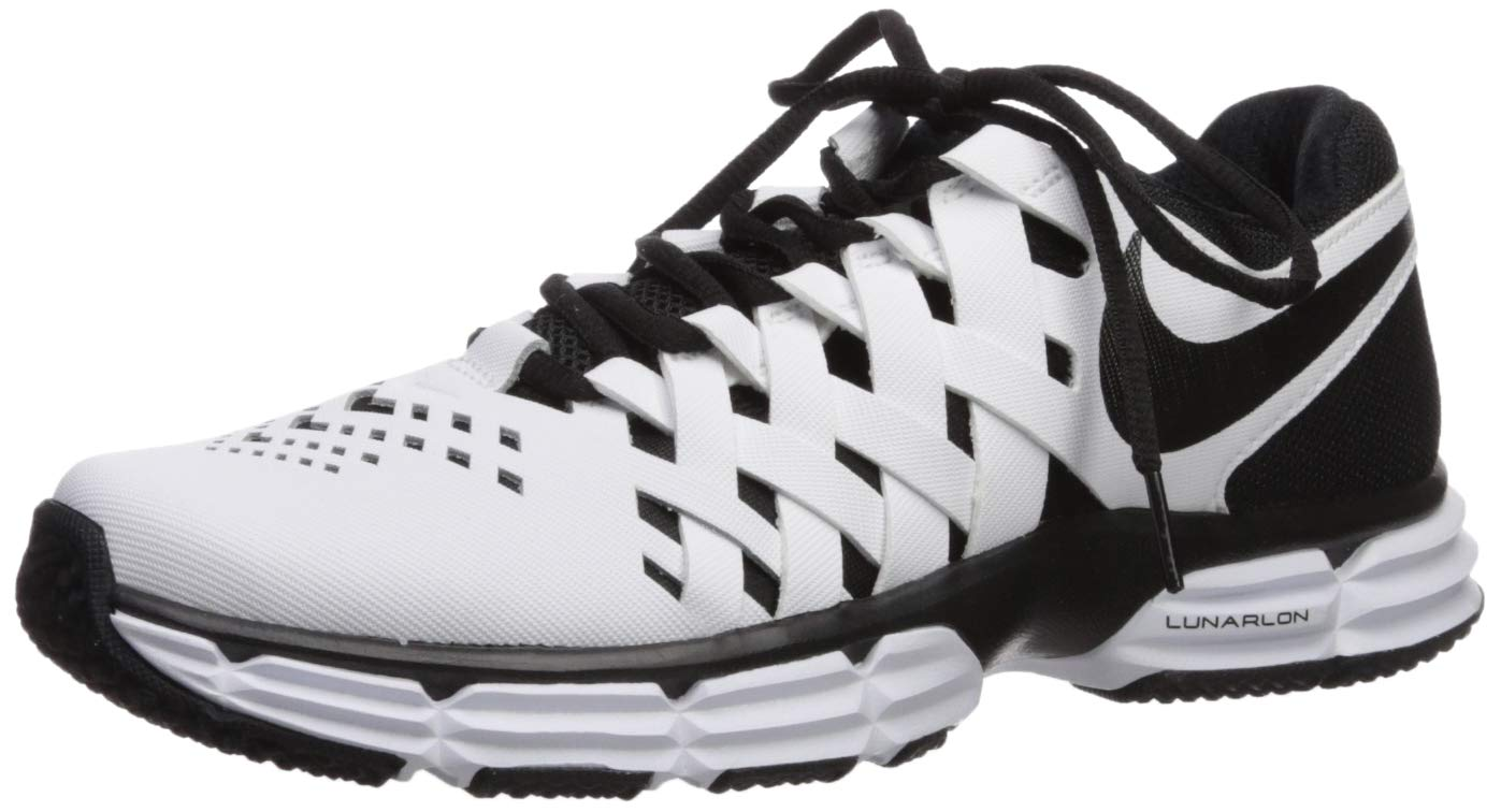 Nike Men's Lunar Fingertrap Trainer Sneaker, White/Black, 10 Regular US by Nike