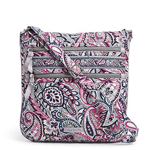 Vera Bradley Signature Cotton Triple Zip Hipster Crossbody Purse Handbag