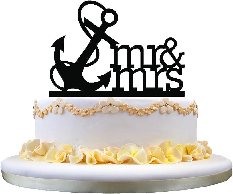 Awe Inspiring Amazon Com Mr Mrs Nautical Anchor Navy Birthday Party Elegant Funny Birthday Cards Online Fluifree Goldxyz