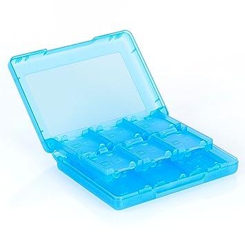 Neuftech Game Card Caja de tarjetas para Nintendo 3DS XL, 2DS / 3DS, DSi XL, DSi y DS (22 Juegos y 2 tarjetas de memoria) Azul