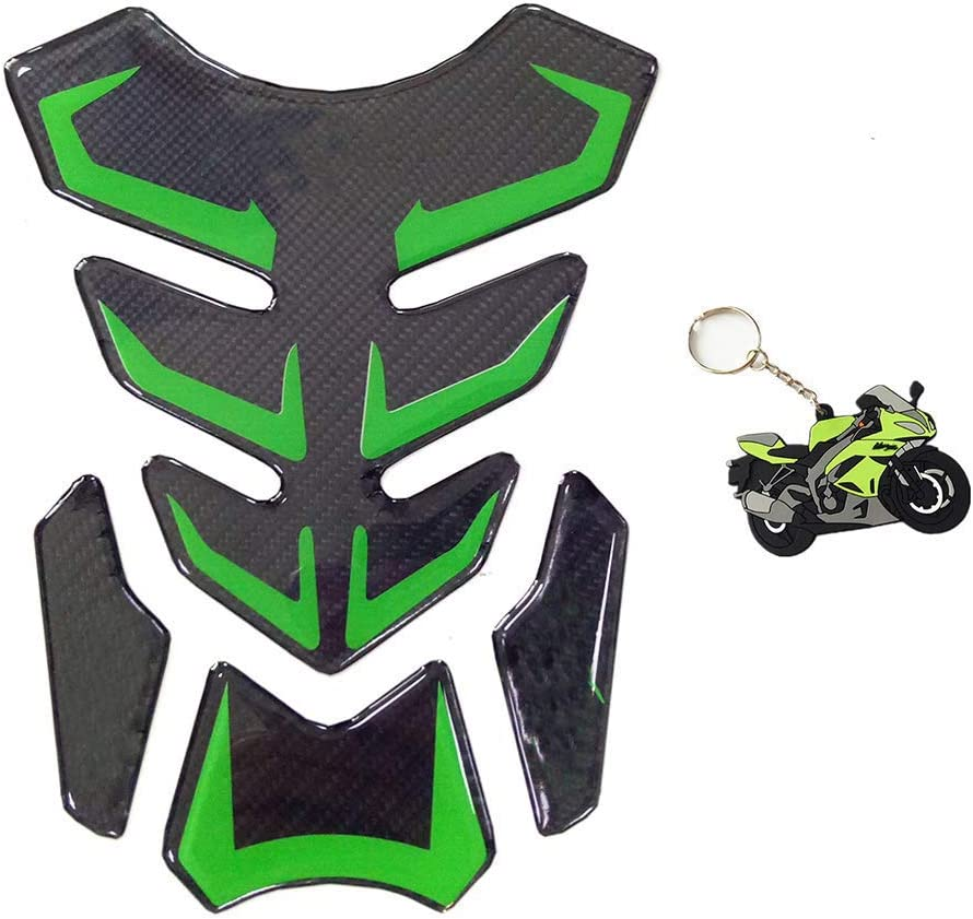 psler Motorcycle Fuel Tank Pad Protector Sticker Decals with Keychain For Kawasaki Ninja 650 ZX636 ZX600 ZX-10R ZX14 ZX1400 ZX14R ABS 1000 ZX100