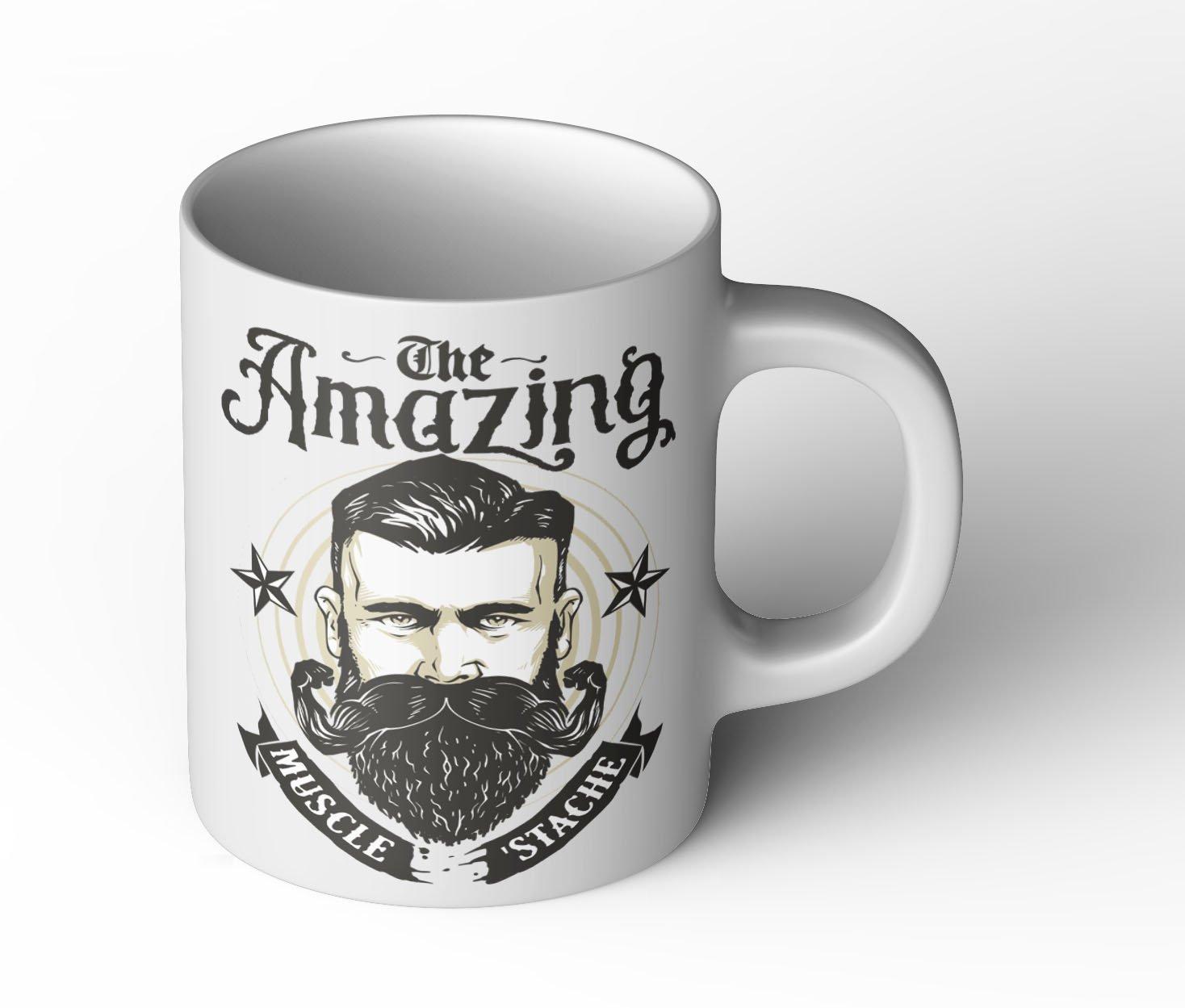 Amazing strong Beard Tasse Cup Becher Fun Geschenk neu Bart Retro Vintage