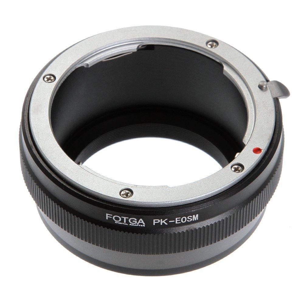FOTGA Bague Adaptateur Monture dobjectif pour Pentax PK K Montage de lobjectif /à Canon EOS EF-M Mount,M,M2,M3,M5,M6,M10,M50,M100 Cam/éra sans Miroir