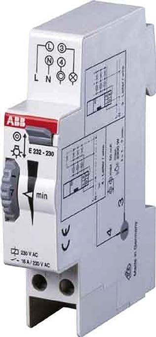 Abb-entrelec e232e-230n - Minutero escalera electronico e232e-230n: Amazon.es: Bricolaje y herramientas