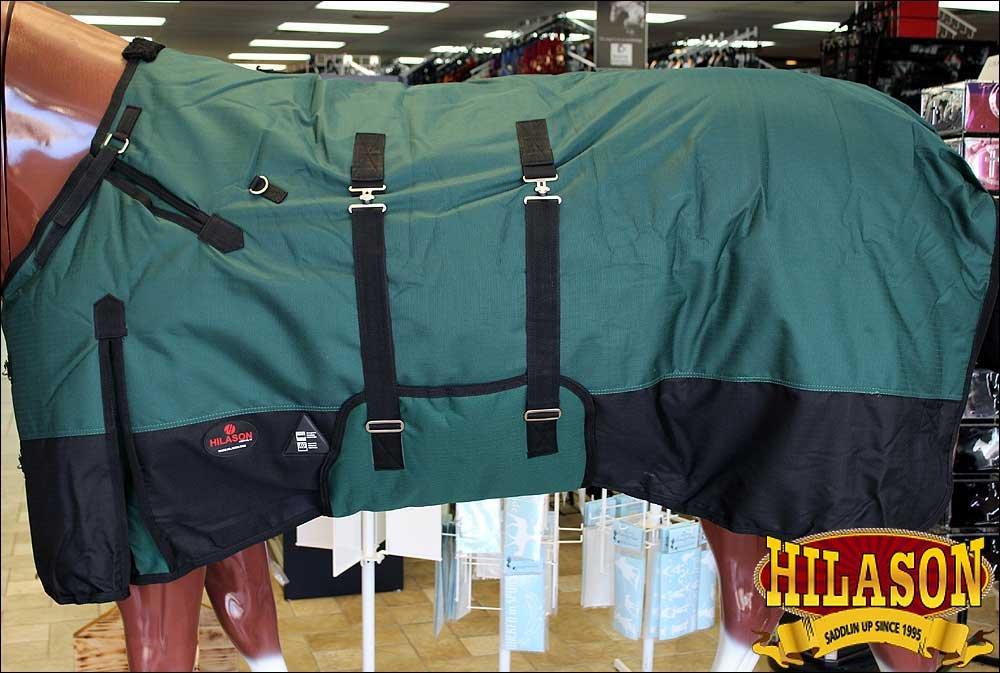 HILASON 78 1200D Winter Waterproof Poly Horse Blanket Belly WRAP Hunter Green