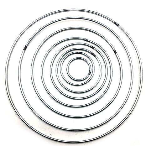 "5pcs Metal Dream Catcher Dreamcatcher Ring Macrame Craft Hoop Pentacle Circle 4/"""