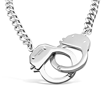 Amazon handcuff necklace in stainless steel by silver phantom amazon handcuff necklace in stainless steel by silver phantom jewelry jewelry aloadofball Image collections