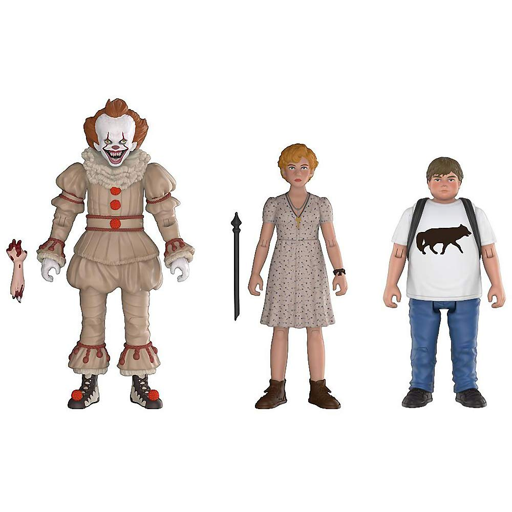 Funko Pennywise, Beverly, Ben  It x Mini Action Figure + 1 Classic Horror & Scifi Movies Trading Card Bundle [30011]