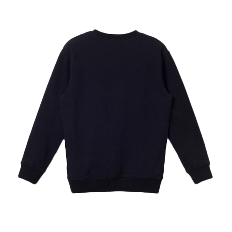 16 bossini Chill Boys Contrasting Sleeve Super Soft Print Sweatshirt,US Size 4T