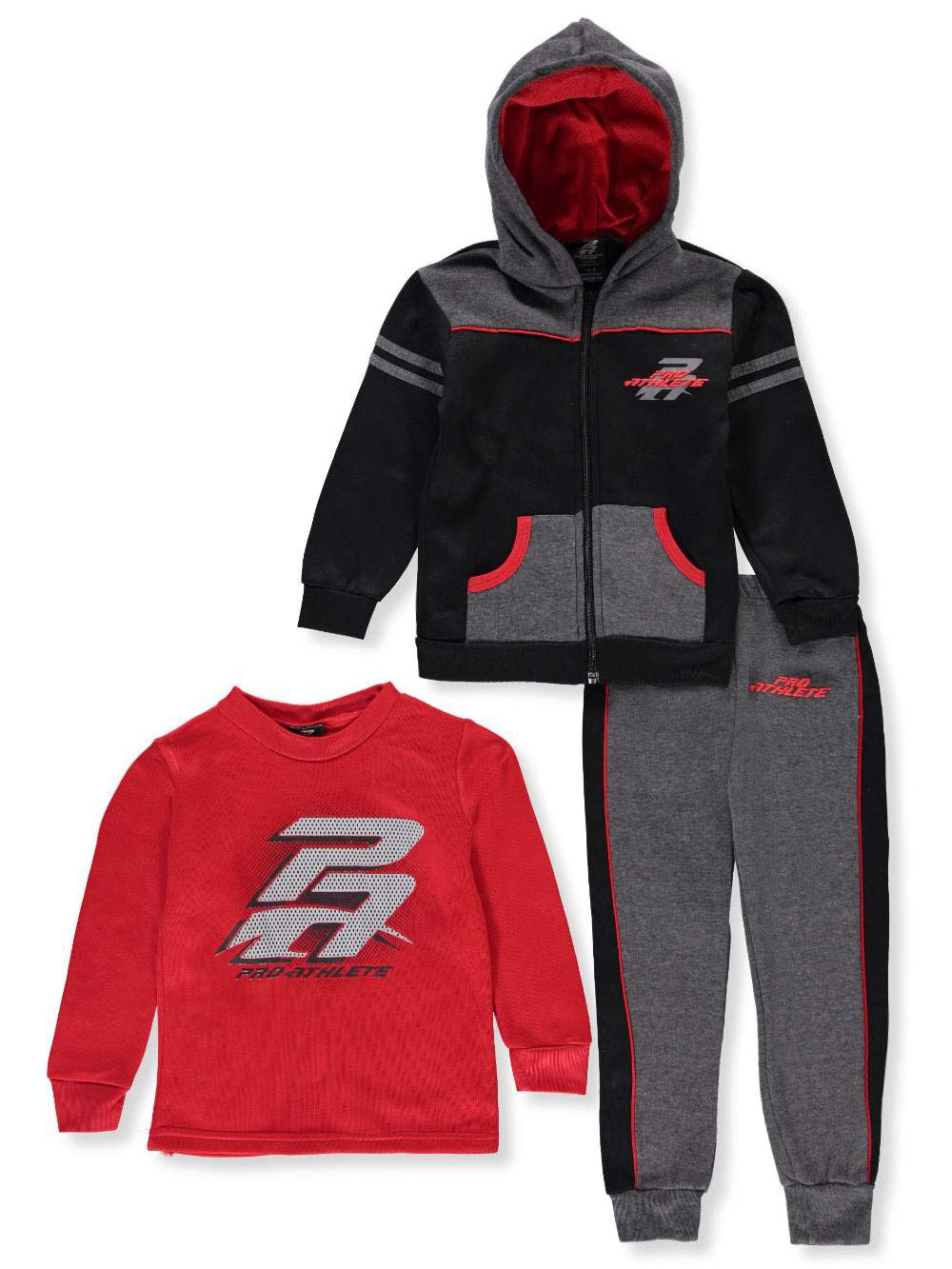 Pro Athlete Boys' 3-Piece Sweatsuit Pants Set