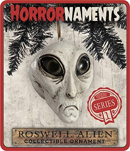 Christmas Parties and Events HorrorNaments Roswell Alien Ornament Scary Prop and Decoration for Halloween
