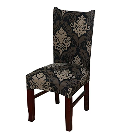 Khalee Super Fit Stretchable Short Dining Room Chair Protector Cover Slipcover 01 1