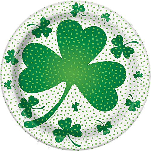 Lucky Shamrock St. Patrick's Day Dessert Plates, 8ct