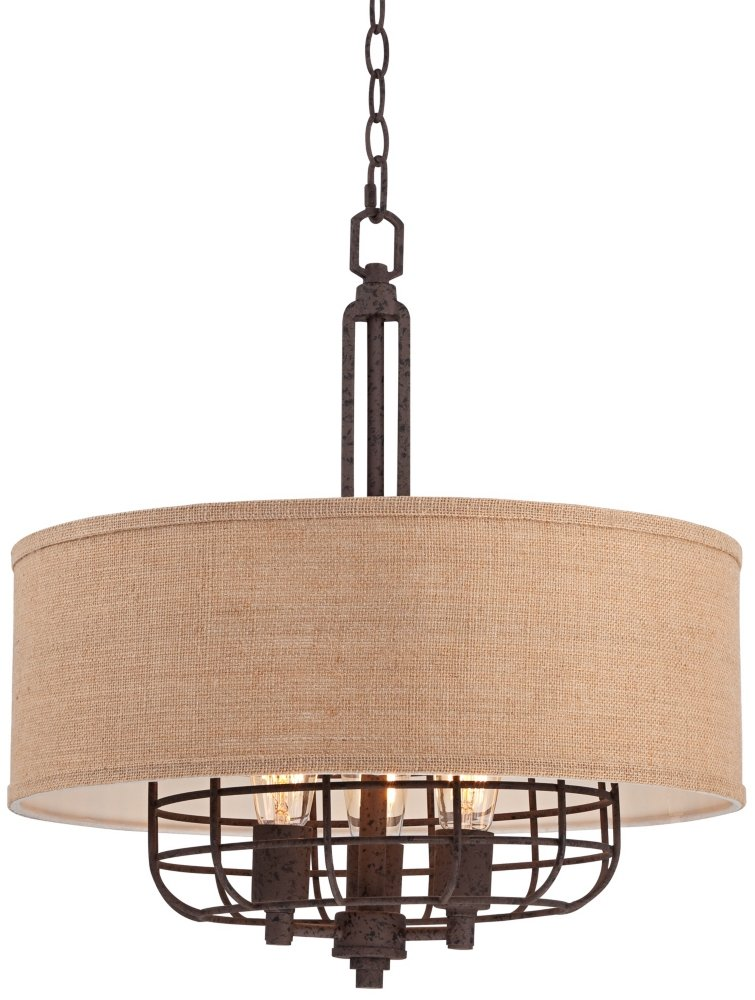 Tremont 20'' Wide Rust Pendant Light by Franklin Iron Works