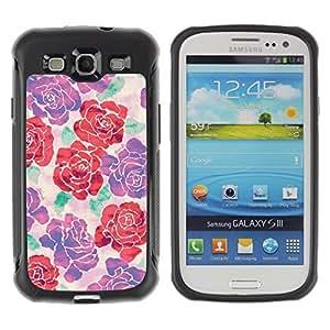 Suave TPU GEL Carcasa Funda Silicona Blando Estuche Caso de protección (para) Samsung Galaxy S3 III I9300 / CECELL Phone case / / begonia rose floral silk art design spring /