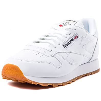 b6c5fff7cd6 Reebok Men s Classic Leather Low-Top Sneakers  Amazon.co.uk  Shoes ...