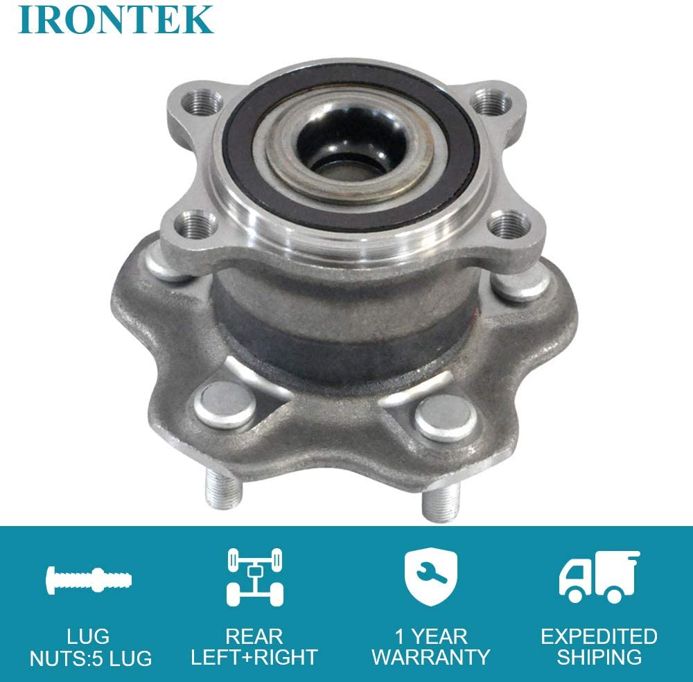 IRONTEK 512388 Rear Wheel Hub fits 2007-2016 for Nissan Altima Infiniti JX35 RVR for 5 Lugs Wheel Hubs