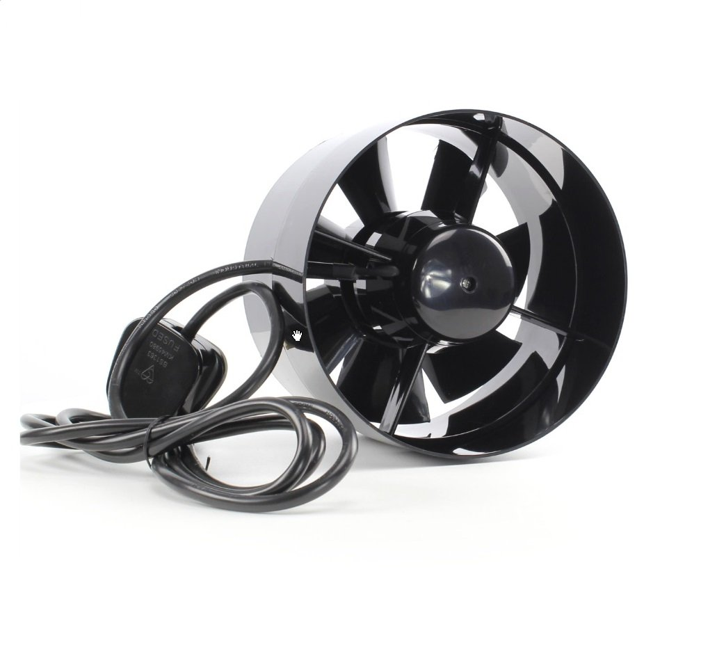 Black Orchid Axial-flo Inline Carbon Filter Or Tent Pocket Extractor Fan for Hydroponic Grow Rooms (4