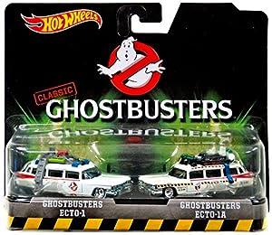 Mattel Hot Wheels DVG08 - Ghostbusters Premium 2-er Pack Ecto 1 und Ecto 1A,...