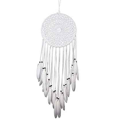 What Are Dream Catchers For Inspiration Amazon Crochet White Dream Catchers For Bedroom Wall Decor