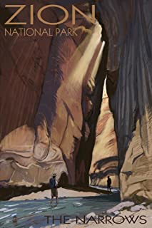 product image for Zion National Park, Utah - The Narrows (24x36 Giclee Gallery Print, Wall Decor Travel Poster)