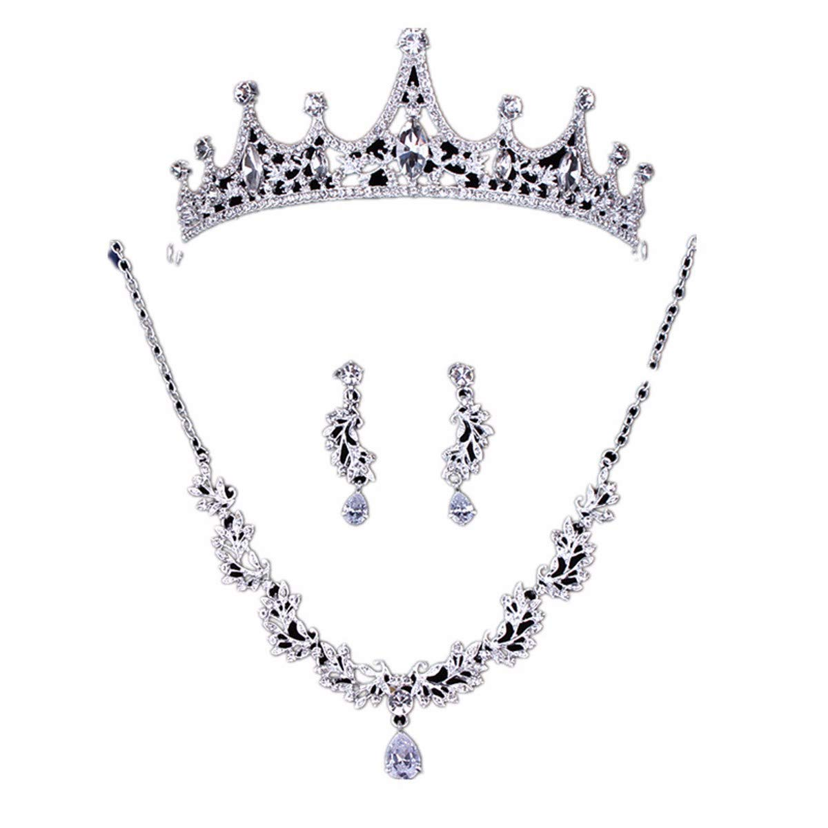 Wedding Crown, Beautiful headdress/Princess Bride Crown Luxurious Diamond Brides Wedding Headwear Wedding Accessories Accessories by Junson (Image #1)