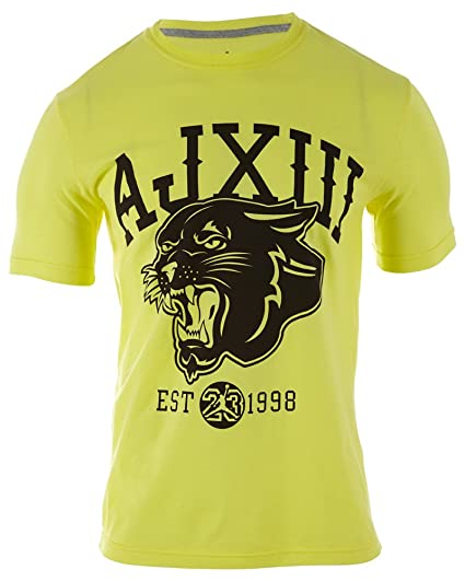 fbe058c3c44 Jordan Nike Men's AJ XIII BC Graphic Shirt Yellow/Black 519639-740 (Medium