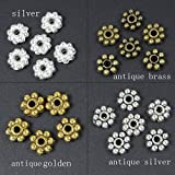 HYBEADS 200PCS 6mm mixed Tibetan antique daisy spacer beads