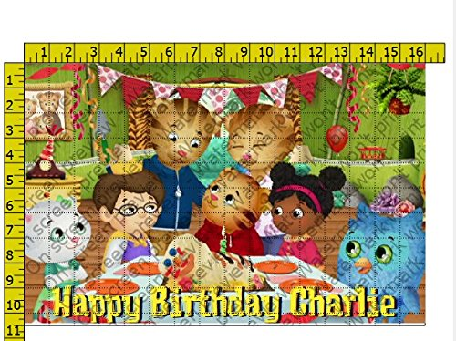Daniel Tiger Birthday Party Edible Frosting Image 1/2 sheet Cake Topper]()