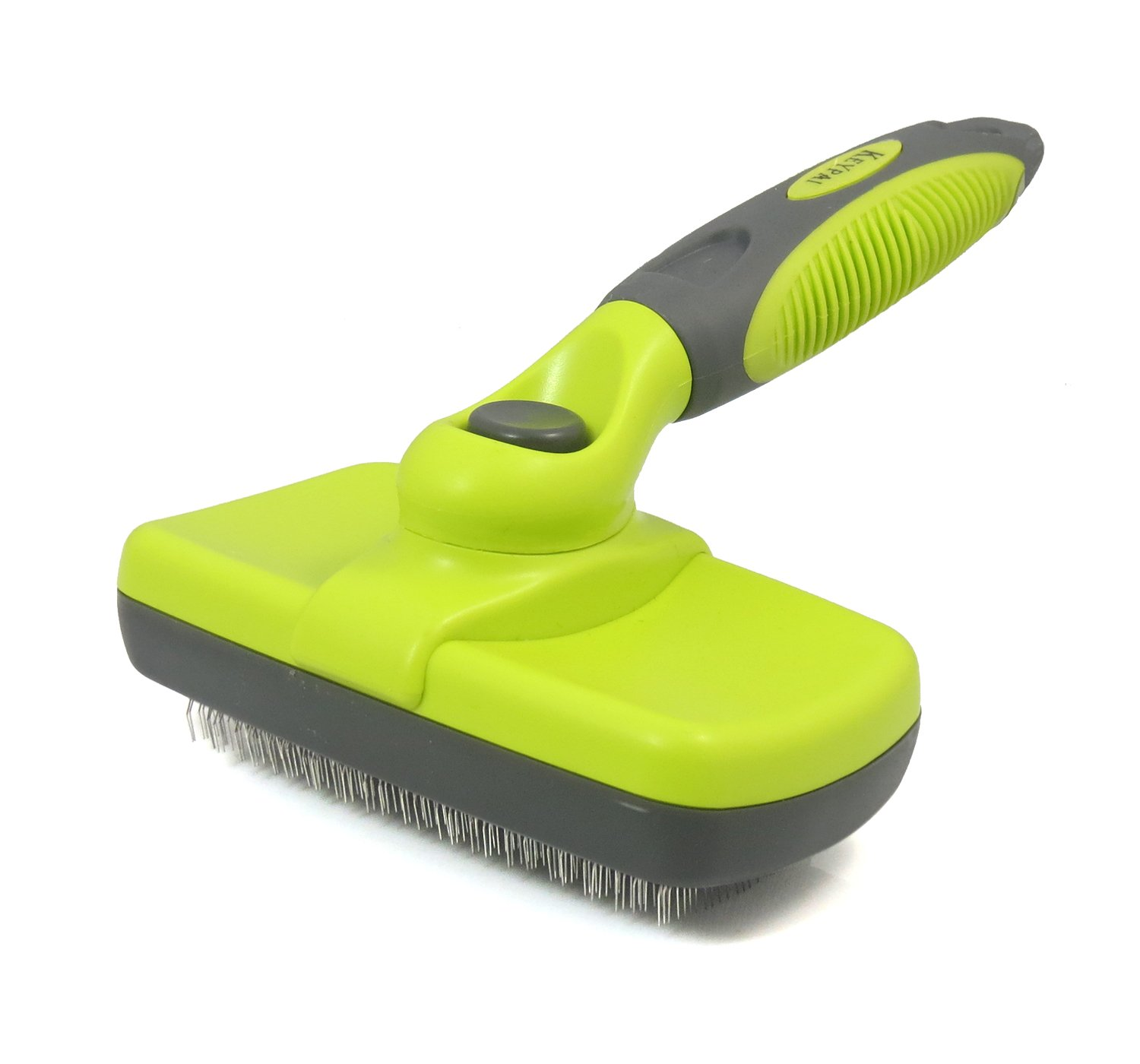 Keypai Self Cleaning Slicker Brush For Dogs and Cats Pet Grooming Tool Removes Mats Tangles Dead Undercoat Long & Short Hair Shedding