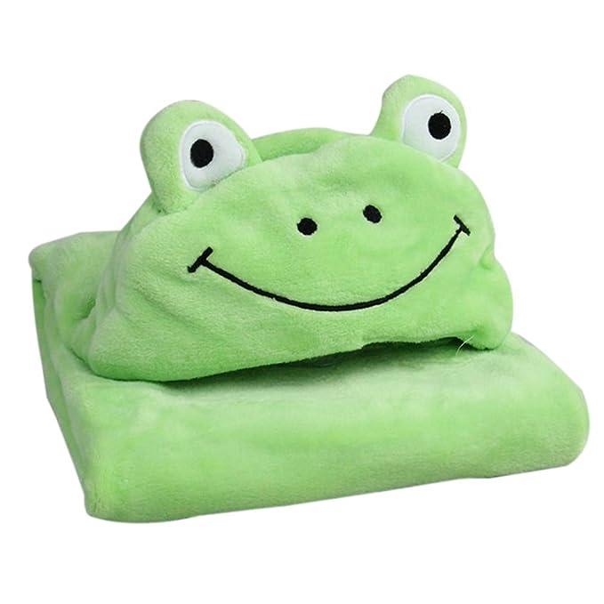 kvbaby franela suave - Albornoz baby - Manta con Diseño de Animales y capucha, niños pequeños Kids capa de toallas de mano cálida Toalla con capucha blanco ...