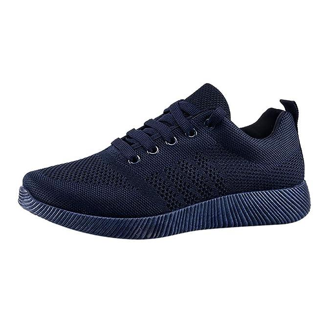 Plataforma De Las Mujeres Zapatillas De Deporte Zapatos De Primavera Cómodo ResbalóN En Malla De Aire Señoras Gruesas Suela Calzado YiYLunneo: Amazon.es: ...