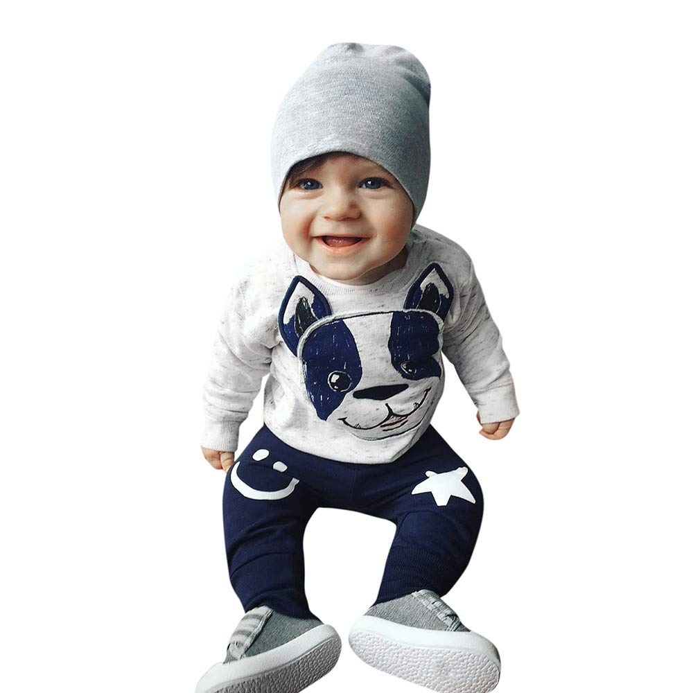 Amazon.com: Fartido 2Pcs Toddler Baby Boys Girls Cartoon Dog Ears Tops+Pants Outfit Set: Clothing