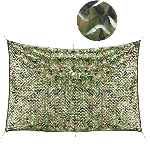 Camouflage Netting - PAMASE 210D Camo Netting for Woodland Camouflage in 6.5'x 10',10'x 13', Blind Cover in Hunting, Safari, Shooting,Camping