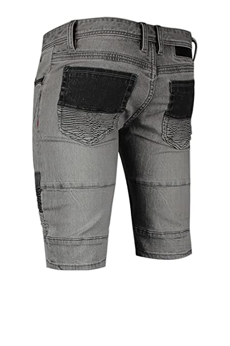 a5a1cb603d6c9 trueprodigy Casual Herren Marken Jeans Shorts mit Stretch Kurze Hose Cool  Stylisch Denim Vintage Destroyed Slim Fit Jeans Männer