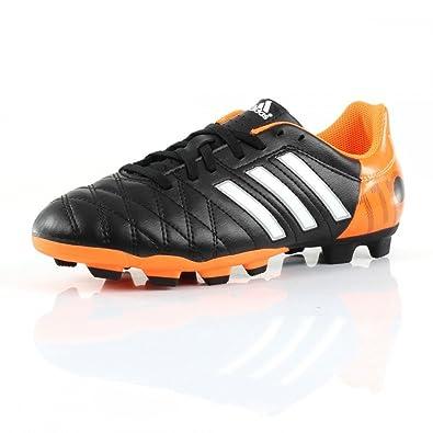 new concept c60e4 cc7ab adidas 11 Questra FG Cam Football Boots Shoes Black1Runwh schwarz, orange  Size