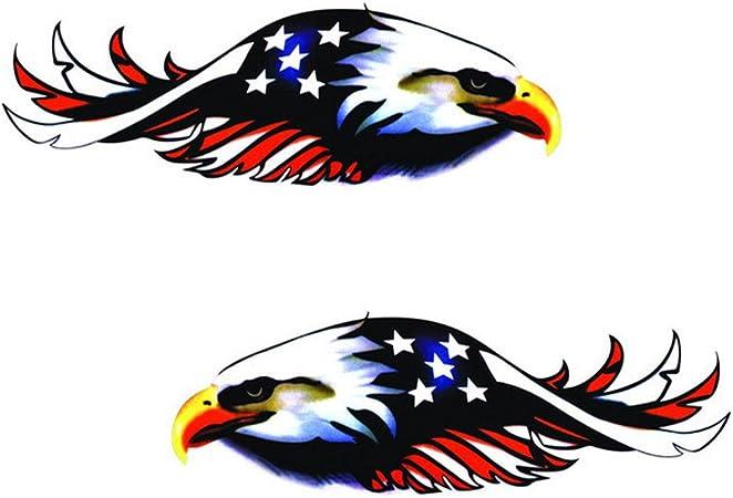 Cuifress 1 Set/2 piezas calcomanías para auto con diseño de águila voladora para camión, auto, camión, camión, coche, bicicleta, camión, etc.: Amazon.es: Hogar