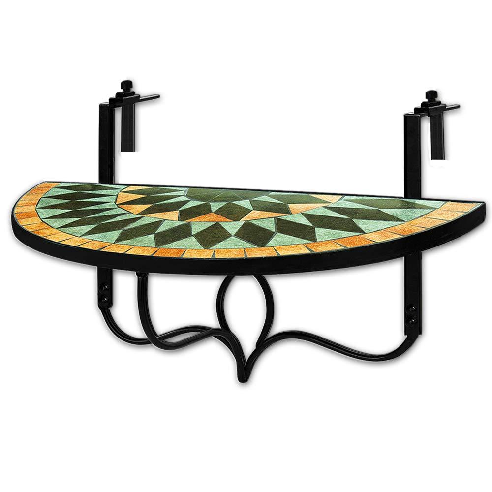 Mosaik Balkontisch klappbar Hängetisch Klapptisch Mosaiktisch Gartenmöbel