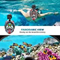 HENGBIRD Snorkel Mask, Foldable 180° Panoramic View Full Face Snorkeling Mask, Easy Breath, Anti-Fog, Anti-Leak with Detachable Camera Mount for Kids and Adult