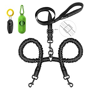 Peteast Double Dog Leash, Heavy Duty