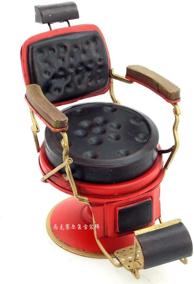 Silla Decoración del Micro MetalModelo De Decoracion Modelo Retro De Hierro Decoraciones Artesanales Creativo Barbero