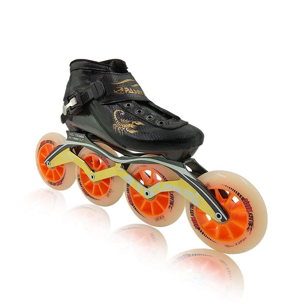 Ailj インラインスケート、 4X110MMラウンド 大人のプロの単列スケート靴 超軽量カーボンファイバー製シューズシェル 2色 (色 : A, サイズ さいず : EU 37/US 5/UK 4/JP 23.5cm) B07QDFVTDS EU 43/US 10/UK 9/JP 26.5cm|B B EU 43/US 10/UK 9/JP 26.5cm