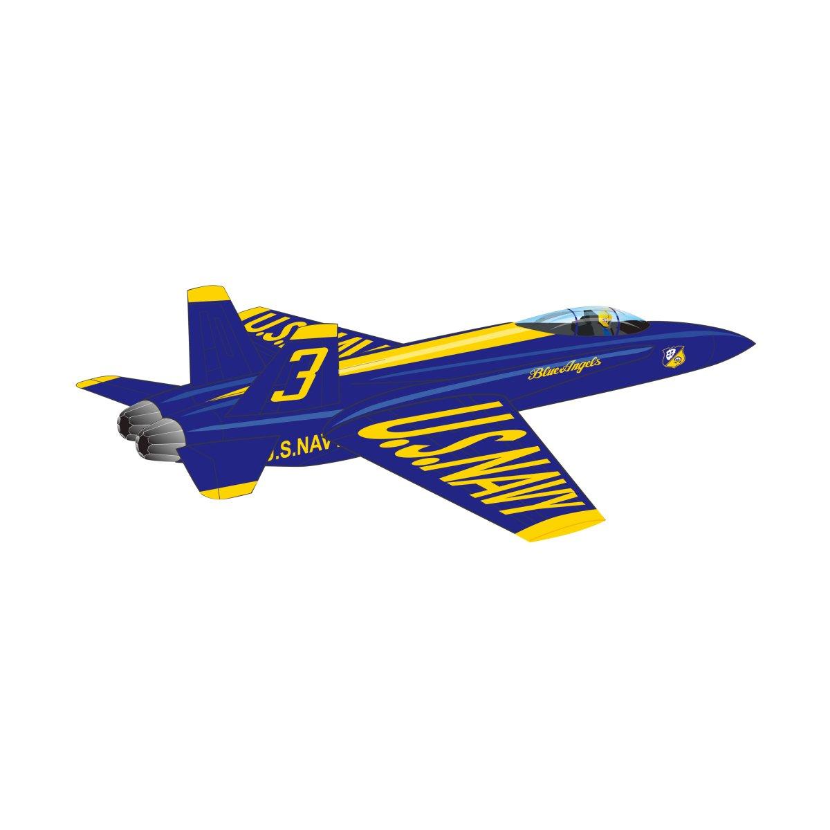 X-Kites WindNSun WindForce 40'' 3-D Nylon Kite - Blue Angels by X-Kites