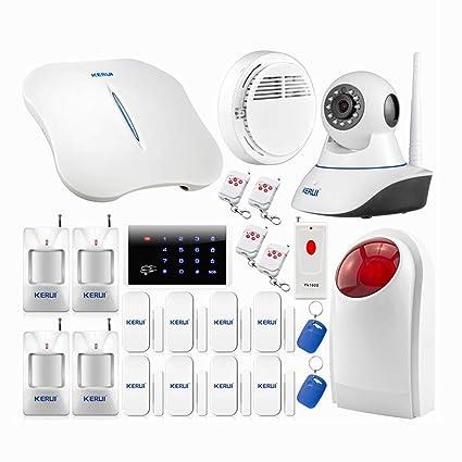 KERUI - W1 WiFi Kit sistema Alarma de casa auto llamada ...