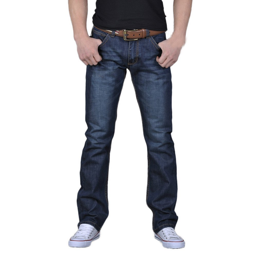 Men's Casual Autumn Denim Cotton Hip Hop Loose Work Long Trousers Jeans Pants