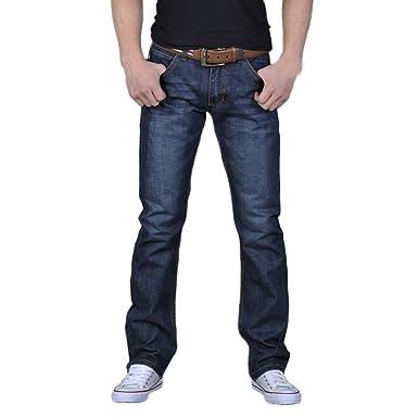Pantalones Vaqueros Largo Recto Hombres,ZARLLE Hombres Denim Moda Pantalones Slim Fit Motocicleta Estilo Urbano Running jeanscon Bolsillos Slim fit ...
