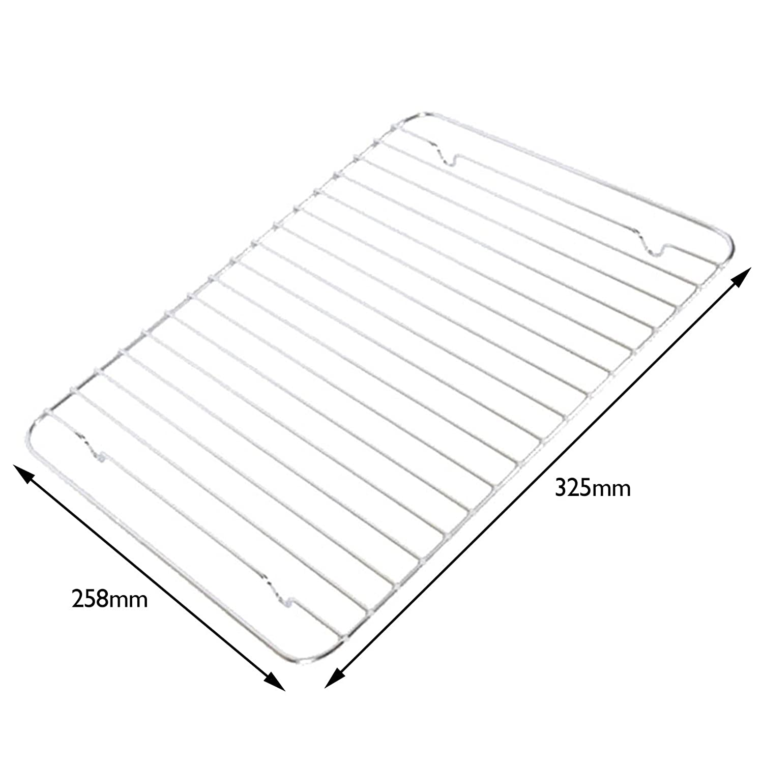 SPARES2GO Grill Pan Rack Grid Mesh for Montpellier (325 x 258 mm)