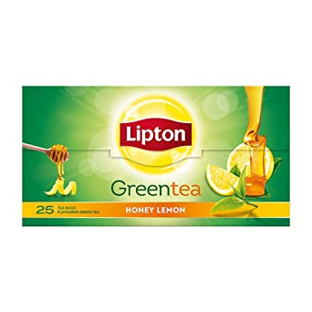 Lipton Honey Lemon Green Tea Bags, 25 Pieces