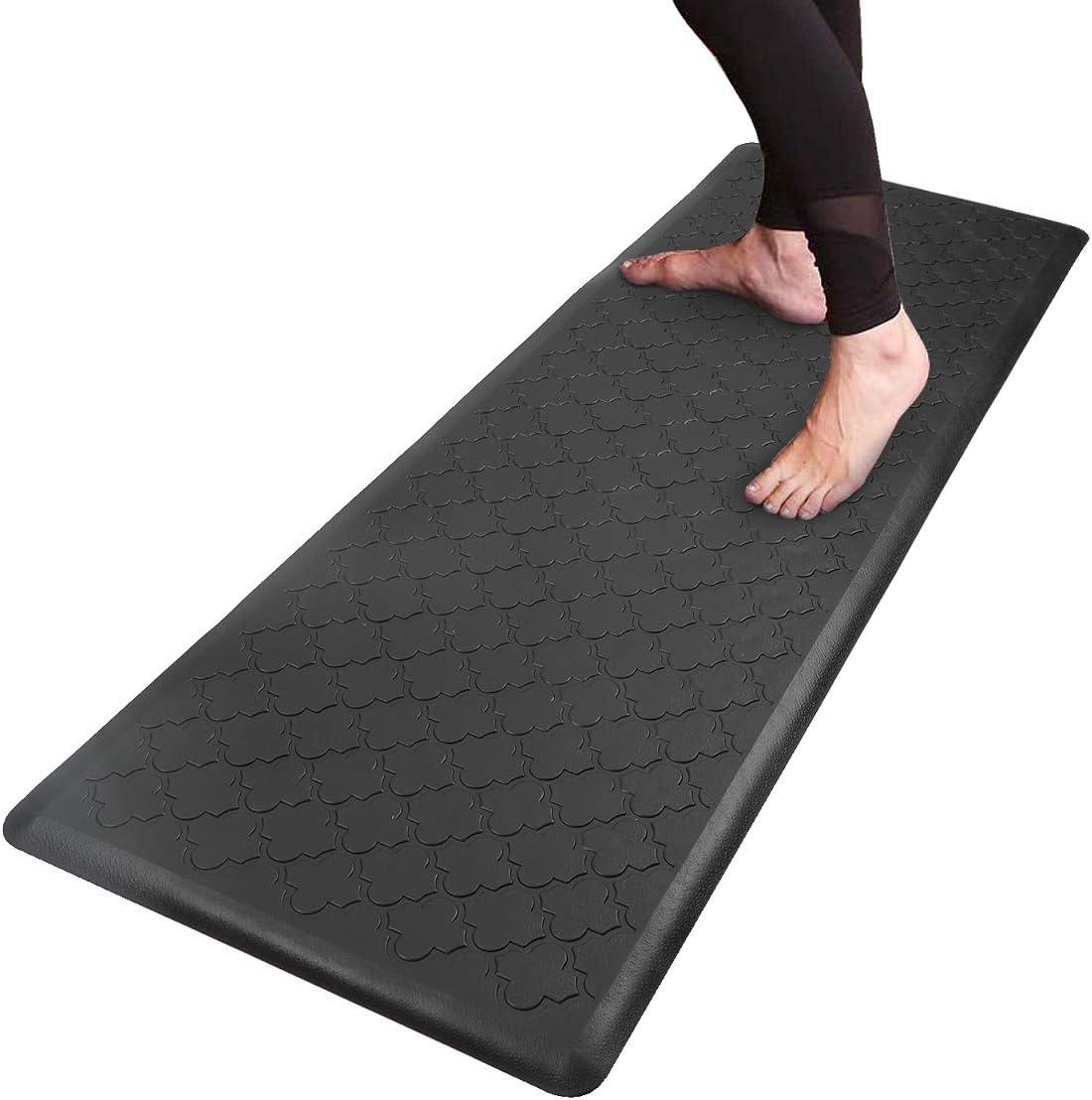 "HEBE Kitchen Mat Cushioned Anti-Fatigue Floor Mat Runner Waterproof Non-Slip Standing Mat Ergonomic Comfort Floor Mat Rug Runner for Office,Sink,Laundry,Desk,20""x60"""